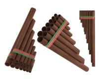 Flauta peruana Zampona de la cacerola Fotografía de archivo