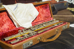 Flauta vieja Fotos de archivo libres de regalías