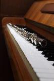 Flauta y piano Fotografía de archivo libre de regalías