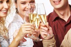 Flautas con champán Fotos de archivo