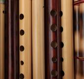 Flautas de bambú hechas a mano Imagen de archivo libre de regalías