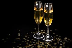 Flautas de champán Imagen de archivo libre de regalías