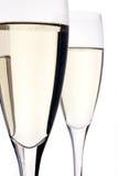 Flautas de champán Imágenes de archivo libres de regalías