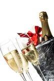 Flautas de Champagne Foto de Stock Royalty Free