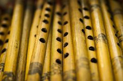 Flautas de madera indias Imagen de archivo libre de regalías