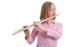 The flautist. Royalty Free Stock Image