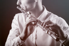 flautist Foto de Stock Royalty Free