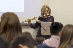 Flautist Stock Photo