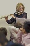 Flautist Stock Image