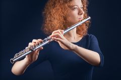 Flautist Stock Images