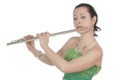 Flautista Fotografía de archivo libre de regalías