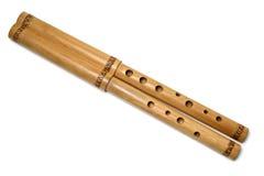 Flauto di legno Immagine Stock
