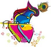 Flauto di Lord Krishna illustrazione di stock