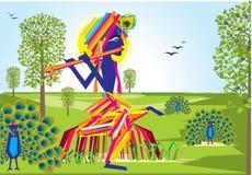 Flauto 2 di Lord Krishna royalty illustrazione gratis