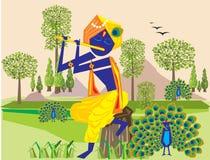 Flauto 3 di Lord Krishna royalty illustrazione gratis