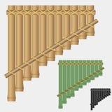 Flauto di Pan, strumento musicale di bambù del vento Immagini Stock Libere da Diritti