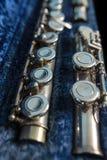 Flauto traverso in suo caso Fotografia Stock
