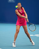 Flavia Pennetta of Italy in action stock photo