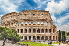 The Flavian Amphitheatre, aka Colosseum in Rome, Italy Royalty Free Stock Photo