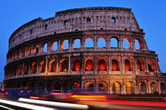 Flavian Amphitheatre or Coliseum in Rome, Italy Stock Image