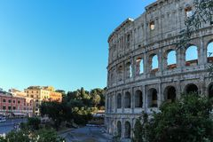 The Flavian amphitheatre 2 - the Colosseum, Rome, Italy stock photography