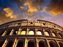 Flavian Amphitheatre or Colosseum in Rome Royalty Free Stock Photos