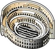 Flavian Amphitheatre ou coliseu Fotografia de Stock Royalty Free