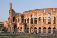Flavian Amphitheatre of Rome. The famous Coliseum, also known as the Colosseum in the Temple of Peace in Rome, Italy Stock Image