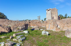 Flavian Palace on the Palatine Hill in Rome, Italy Stock Photo