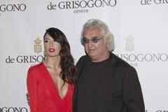 Flavio Briatore; Elisabetta Gregoraci Obraz Stock