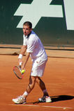 Flavio Cipolla. Italian tennis player, Flavio Cipolla, to serve Royalty Free Stock Image