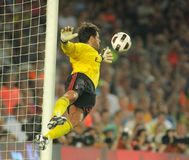 Flavio Roma goalkeeper of AC Milan. In action during Trophy Joan Gamper match between FC Barcelona and AC Milan at Nou Camp Stadium in Barcelona, Spain. August Stock Photos