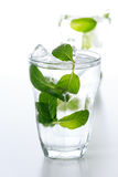Flavor water with mint. Leaf Stock Photography
