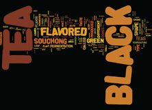 Flavored Black Tea Text Background  Word Cloud Concept Stock Photography