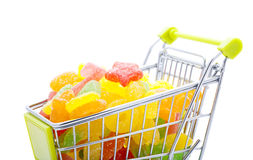 Flavored Chews in shopping cart Royalty Free Stock Photo