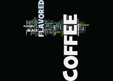 Flavored Coffee Text Background Word Cloud Concept Royalty Free Stock Photography