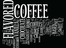 Flavored Coffee Vs Black Coffee Text Background Word Cloud Concept Royalty Free Stock Photography