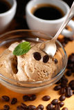 Flavored coffees ice cream Stock Photo