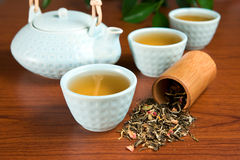 Flavored green tea Stock Image