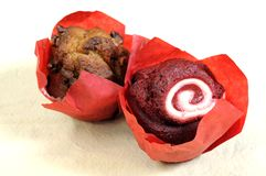 Flavored muffins Royalty Free Stock Images
