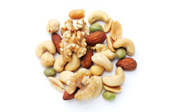 Flavored nuts stock photography