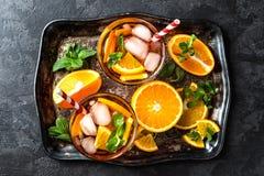 Flavored orange iced tea Stock Photos
