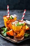 Flavored orange iced tea Stock Photography