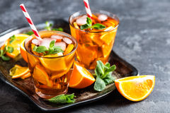Flavored orange iced tea Royalty Free Stock Images