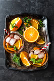 Flavored orange iced tea Royalty Free Stock Photography