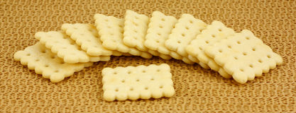 Flavored snack crackers Stock Images