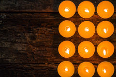 Flavored spa candles Royalty Free Stock Photography