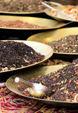 Flavored tea selection, at the market Stock Photography