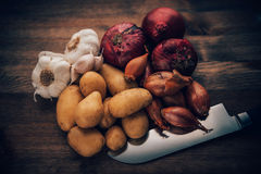 Flavorful συστατικά ζωής Stilll τροφίμων Στοκ Εικόνες
