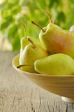 Flavorful pears Stock Images